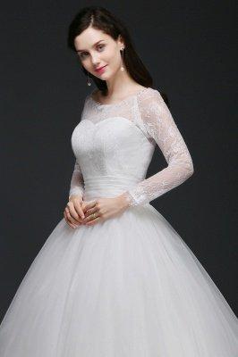 AZARIA | فستان زفاف الأميرة سكوب تول الأبيض مع الدانتيل_5
