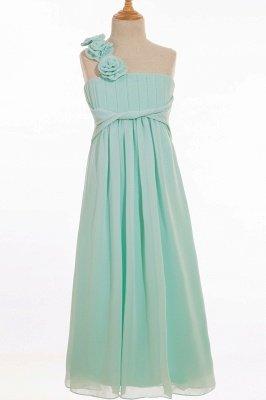 Einfache A-Linie Chiffon Brautjungfernkleider Lang | Brautjungfer Kleid Eine Schulter_2