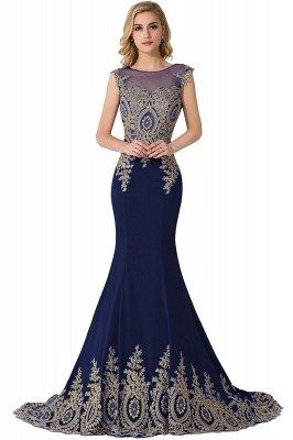 ADALINE | Mermaid Court Train Chiffon Evening Dress with Appliques_5