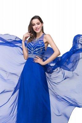 ELLA | Платья выпускного вечера Tulle длиной до пола без рукавов с бриллиантами_11