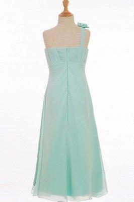 Einfache A-Linie Chiffon Brautjungfernkleider Lang | Brautjungfer Kleid Eine Schulter_3