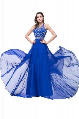 ELLA | Платья выпускного вечера Tulle длиной до пола без рукавов с бриллиантами_10