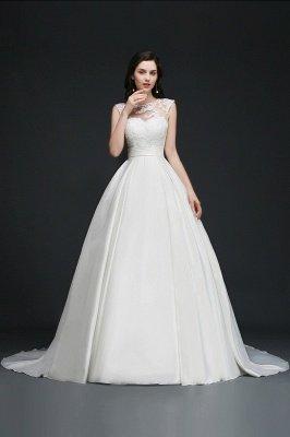 Ivory dos nu en mousseline de soie chapelle-train dentelle robe de bal robes de mariée_7