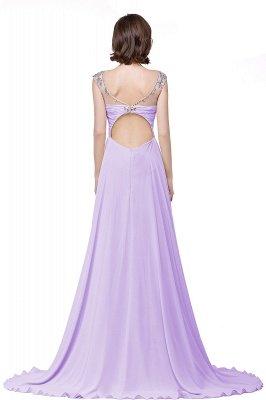 AINSLEY   A-ligne chérie robe de soirée en mousseline de soie avec cristal_6