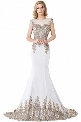 ADALINE | Mermaid Court Train Chiffon Evening Dress with Appliques_1