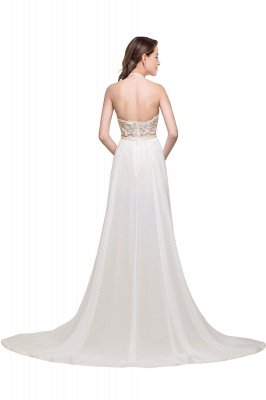 ADELE | A-line Halter Chiffon Evening Dress with Lace_1