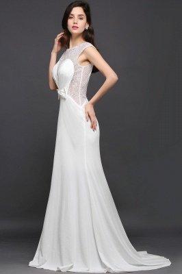AYLEEN | Mermaid Scoop White Chiffon Evening Dress With Beadings_2
