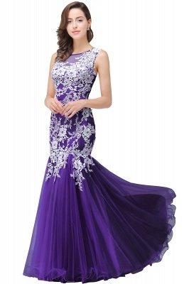 Longue robe de bal maxi dentelle sirène sans manches_3