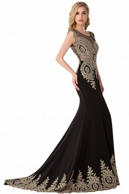 ABIGAIL   Mermaid Court Train Chiffon Evening Dress with Appliques_9