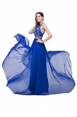 ELLA | Платья выпускного вечера Tulle длиной до пола без рукавов с бриллиантами_8