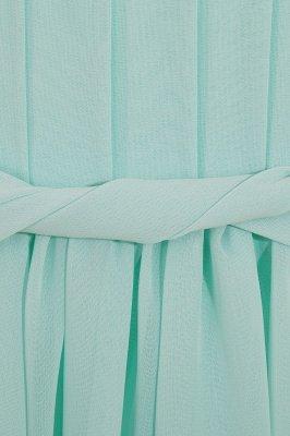 Einfache A-Linie Chiffon Brautjungfernkleider Lang | Brautjungfer Kleid Eine Schulter_9