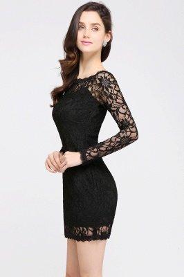 Robes de bal sexy en dentelle noire manches longues sirène_13