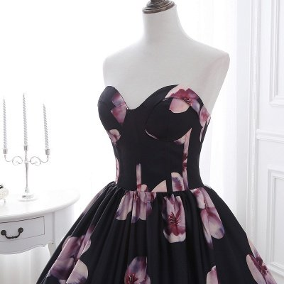 ALESSANDRA   A Line Sweetheart Long Evening Dresses With Print_5