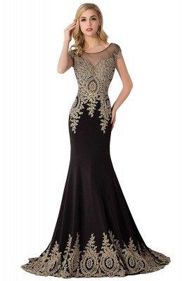 ABIGAIL   Mermaid Court Train Chiffon Evening Dress with Appliques_8