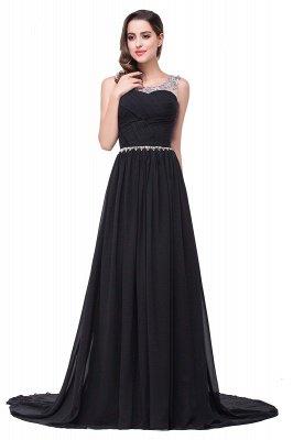 AIMEE | A-Linie Gericht Zug Chiffon Party Kleid mit Perlenstickerei_5