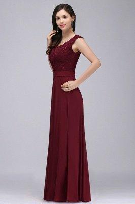 CORINNE | A-Linie bodenlange Spitze Burgund elegantes Abendkleid_9