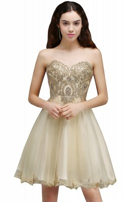 ANIYA | A-line Short Cute Homecoming Dress With Applliques_7