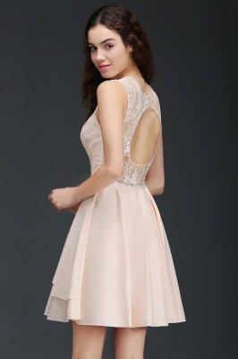 Sexy Rosa Cocktailkleider Mini   Schöne Kleider Online Kaufen_5
