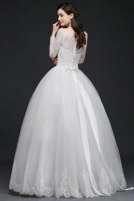 AZARIA | فستان زفاف الأميرة سكوب تول الأبيض مع الدانتيل_8