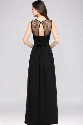 Jewel Lace Keyhole Mantel bodenlangen schwarzen Chiffon Sexy Abendkleid_9