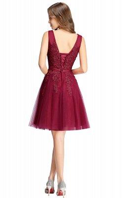 ADDILYNN | A-ligne longueur au genou Tulle robe de bal avec des appliques_5