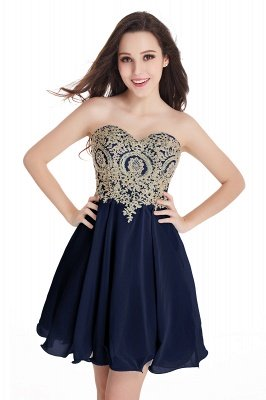 CYNTHIA | A-Line Strapless Short Chiffon Prom Dresses with Beadings_8