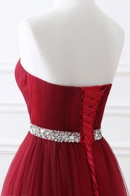 ANGELINA | A-line Sweetheart Burgundy Tulle Prom Dress With Beading_14