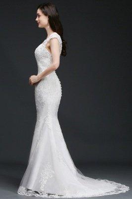 ANNALEE Mermaid Sweep Zug Elegantes Hochzeitskleid mit Spitze_4