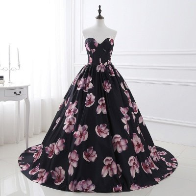 ALESSANDRA   A Line Sweetheart Long Evening Dresses With Print_7