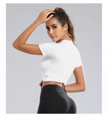 Workout Yoga Crop Tops Gym Exercise Clothes Crop Top Workout Muslce Shirts for Women_28