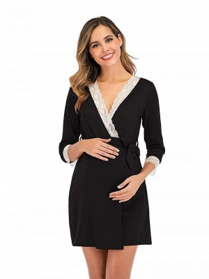 Formal Lace Maternity Dresses for Pregnant Women with Ribbon and Bow Online