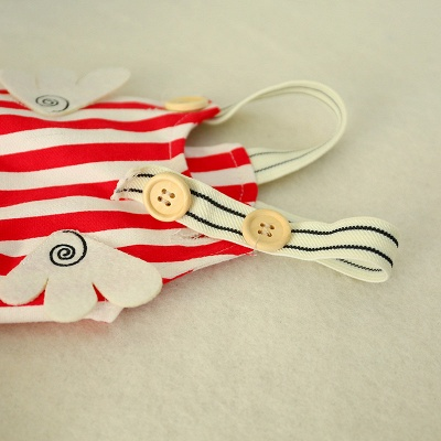 Stripe Straps Dog Jump Suite With Long Pants   Puppy Cloth_4