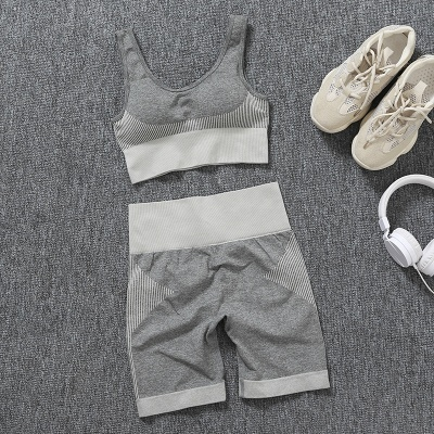 Burgundy Two sets Fitness Two Pieces Fitness Yoga Set_14