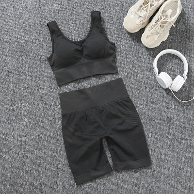 Burgundy Two sets Fitness Two Pieces Fitness Yoga Set_16