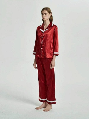 Бордовые пижамы с длинными рукавами онлайн_1