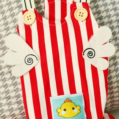Stripe Straps Dog Jump Suite With Long Pants   Puppy Cloth_5