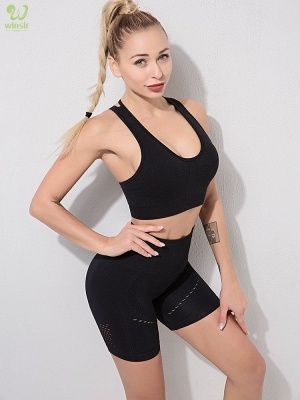Running Bra and Activewear Pants Yoga Clothing Sets for Women Sport Clothing_30