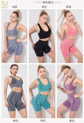 Running Bra and Activewear Pants Yoga Clothing Sets for Women Sport Clothing_3