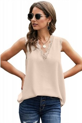 Cool Summer Wear Casual Lace Sleeveless Top Vest