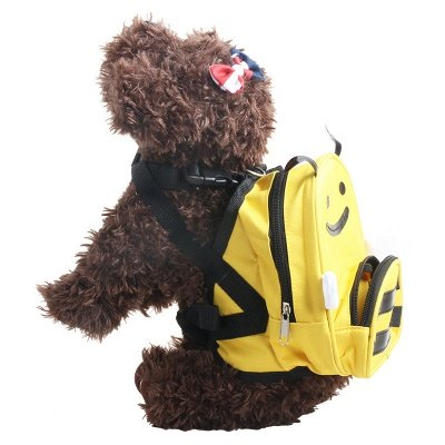 Lovely Bee-Shaped Pet Backpack Day Packs Saddlebags for Small Pets Cartoon Puppy?Bag Pack_2