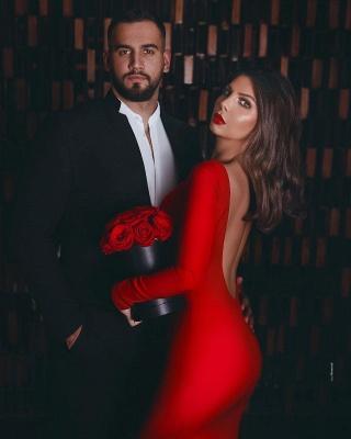 Руби с длинными рукавами и длинными рукавами Русалка длинные вечерние платья_3