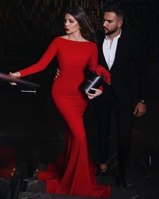 Руби с длинными рукавами и длинными рукавами Русалка длинные вечерние платья_2