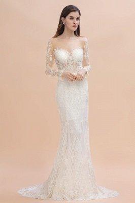 Luxus Perlen Spitze Meerjungfrau Brautkleider Tüll Appliques Brautkleider mit abnehmbaren Zug_7