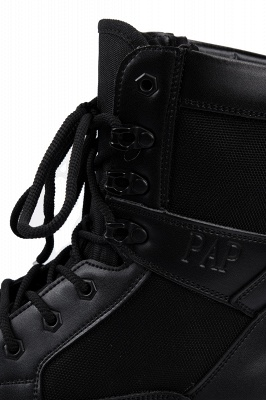 Men's Military Motorcycle Tactical Combat Boots Lace-up Boot_7