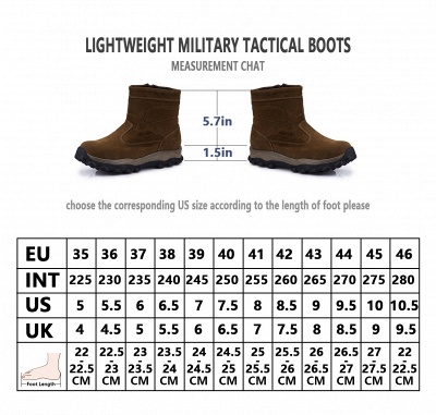 Mens Lightweight Tactical Boot Leather Backpacking Boots Brown_12