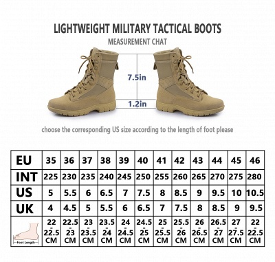 Men's Military Tactical Work Boots Tactical Combat Boots with Coolmax Lining_10