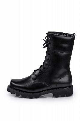 Мужские тактические военные ботинки Черные легкие ботинки для джунглей Рабочие ботинки Боковая молния_3