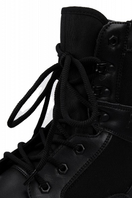 Men's Military Motorcycle Tactical Combat Boots Lace-up Boot_6