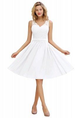 Кружевное длинное короткое платье с V-образным вырезом с поясом | Сексуальное коктейльное платье без рукавов с V-образным вырезом без рукавов_1