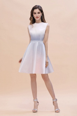 Elegant Gradient A-line Daily Casual Mini Dress Sleeveless Evening Party Dress_2